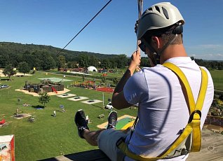 Adrenalin in the rope park - you can anchor directly at it