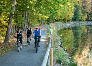 Bicycle paths along the river